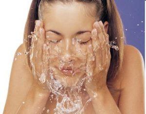 Lavado del rostro
